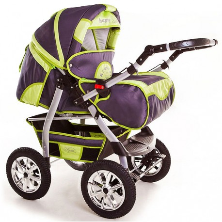 Wózek dziecięcy Szymek NEW 05 (grafit + pistacja)