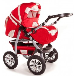 Wózek dziecięcy KRASNAL Szymek NEW czerwony + beż