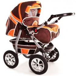 Wózek dziecięcy Krasnal Szymek NEW brąz + żółty