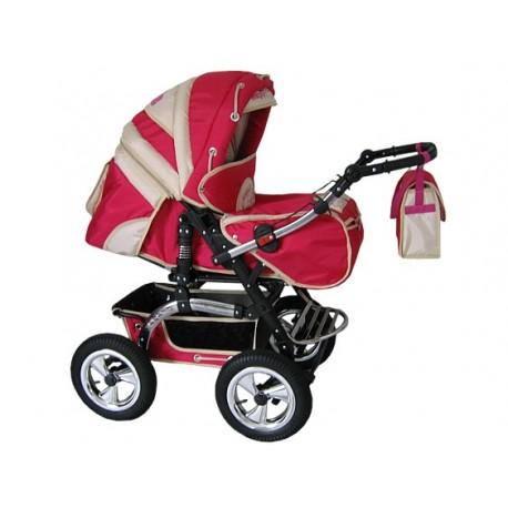 Wózek dziecięcy Diamant 06 (czerwony + beż)