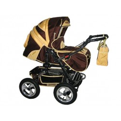 Wózek dziecięcy Diamant 13 (brąz + żółty)
