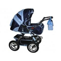 Wózek dziecięcy Diamant 16 (granat + j.niebieski)