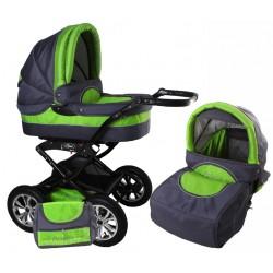 Wózek dziecięcy Polaris 10 (grafit + zielony)