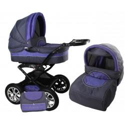 Wózek dziecięcy Krasnal Polaris  (grafit + fiolet)
