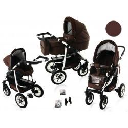 Wózek dziecięcy BAVARIO white ( brązowy )