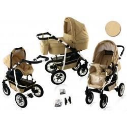 Wózek dziecięcy BAVARIO white ( złoty )