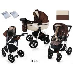 Wózek dziecięcy Krasnal NEXXO ( brąz + kropeczki )
