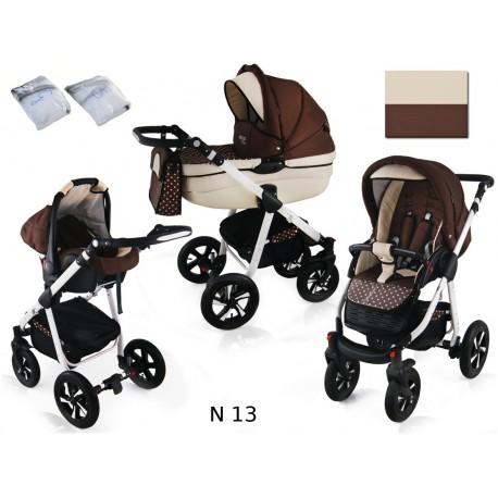 Wózek dziecięcy NEXXO ( brąz + kropeczki )