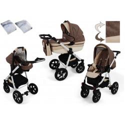 Wózek dziecięcy Krasnal NEXXO ( brązowy )