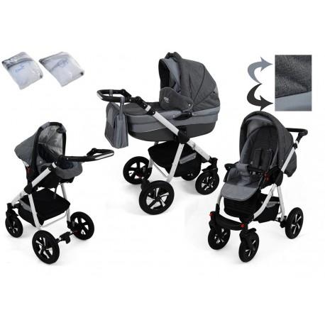 Wózek dziecięcy NEXXO ( c.szary + szary )