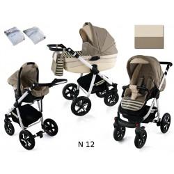 Wózek dziecięcy Krasnal NEXXO ( cappuccino+paski )