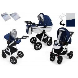 Wózek dziecięcy Krasnal NEXXO ( granat + biały )