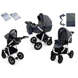 Wózek dziecięcy NEXXO ( j.szary+grafit )