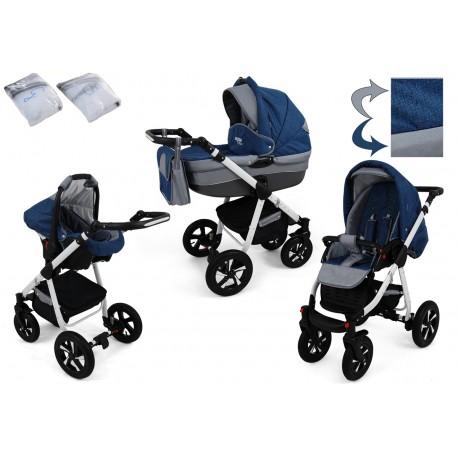 Wózek dziecięcy Krasnal NEXXO ( niebieski )