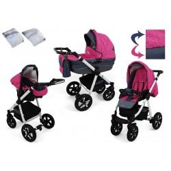 Wózek dziecięcy Krasnal NEXXO ( różowy )