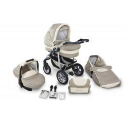 Wózek dziecięcy Krasnal CORAL (cappucino + beż)