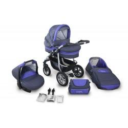Wózek dziecięcy Krasnal CORAL (grafit + fiolet)