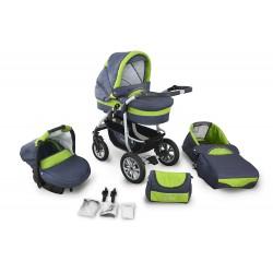 Wózek dziecięcy Krasnal CORAL (grafit + zielony)