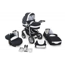 Wózek dziecięcy Krasnal Coral (czarny + biały)