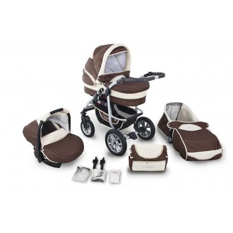 Wózek dziecięcy Krasnal Coral (brąz + beż)