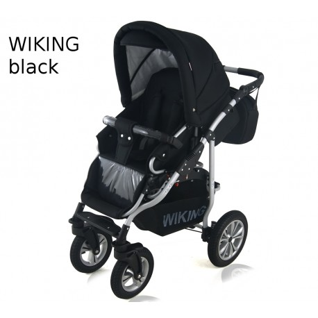 Wózek dziecięcy Wiking (czarny)
