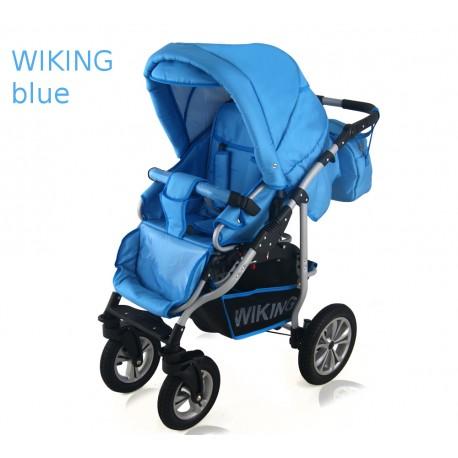 Wózek spacerowy , spacerówka Krasnal WIKING niebieski