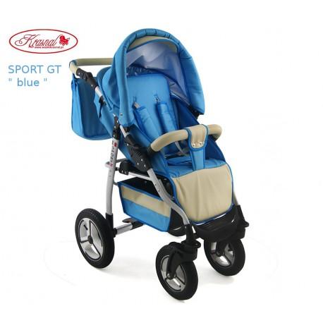 Wózek spacerowy Krasnal SPORT GT niebieski