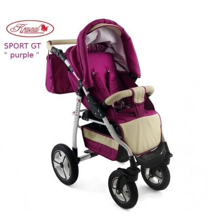Wózek spacerowy Krasnal SPORT GT purpurowy
