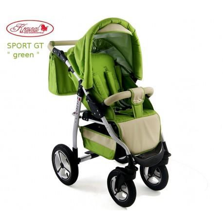Wózek spacerowy Krasnal SPORT GT zielony
