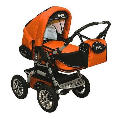 Wózek dziecięcy Peix 07 (czarny + pomarańczowy)
