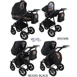 Wózek dziecięcy Krasnal NEXXO black [brązowy]