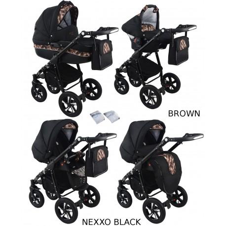 Wózek dziecięcy Krasnal NEXXO black [ brązowy ]
