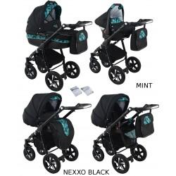 Wózek dziecięcy Krasnal NEXXO black [mięta]