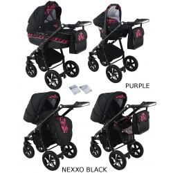 Wózek dziecięcy Krasnal NEXXO black [purpura]