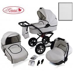 Wózek dziecięcy Krasnal POLARIS (biały+biały)