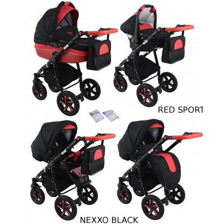 Wózek dziecięcy NEXXO black [czarny+czerwony]