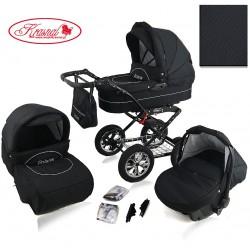 Wózek dziecięcy Krasnal POLARIS (czarny + czarny)