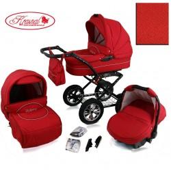 Wózek dziecięcy Krasnal POLARIS (czerwony + czerwony)