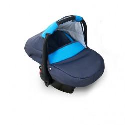 Fotelik Dziecięcy 0-10 KG (Grafit + Niebieski)
