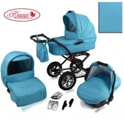 Wózek dziecięcy Krasnal POLARIS lux (mięta + mięta)