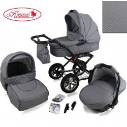 Wózek dziecięcy Krasnal POLARIS (szary+szary)