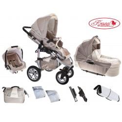 Wózek dziecięcy Krasnal SATURN (cappuciono + beż)