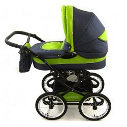 Wózek dziecięcy Polaris retro  grafit + zielony