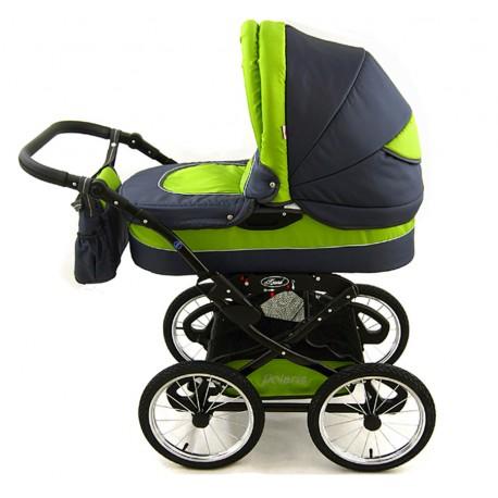 Wózek dziecięcy Krasnal POLARIS retro grafit + zielony