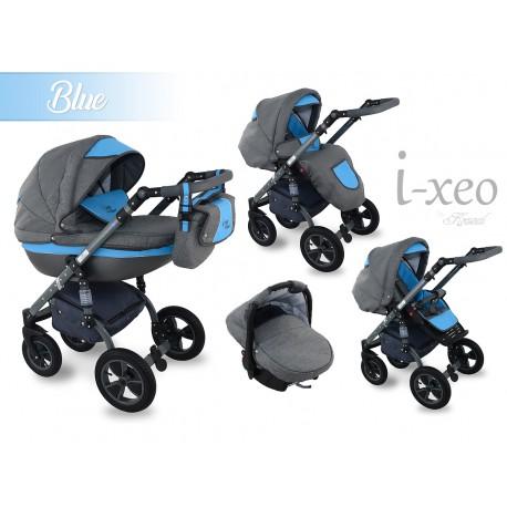 Wozek dzieciecy Krasnal i-xeo (niebieski) 3w1