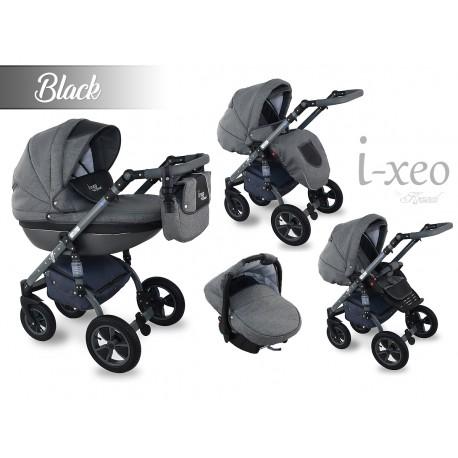 Wózek dziecięcy Krasnal i-xeo (czarny) 3w1