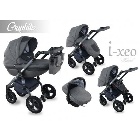 Wózek dziecięcy Krasnal i-xeo (grafitowy) 3w1
