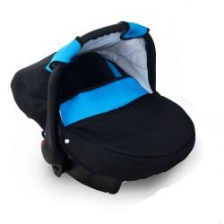 Krasnal fotelik dziecięcy 0-10 KG (czarny + niebieski)