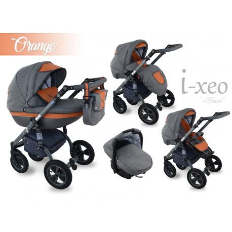 Wózek dziecięcy Krasnal i-xeo orange 3w1