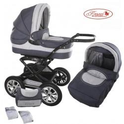 Wózek dziecięcy Polaris  (grafit + srebrny)